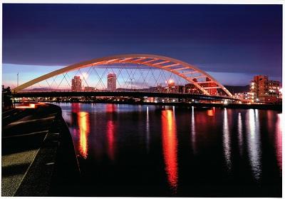 夕景/鏡川大橋