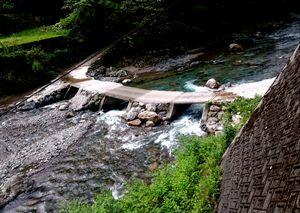 鏡川の沈下橋