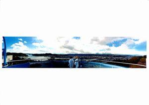 五台山から望む鏡川