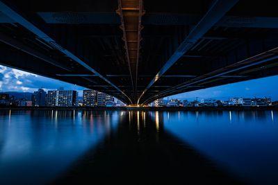 鏡川大橋の足元