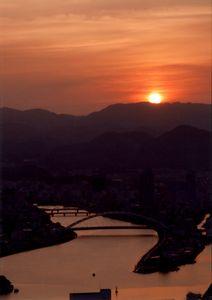 Sunset and Kagamigawa