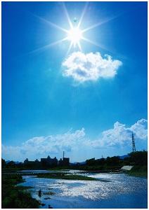 青空と雲と太陽と