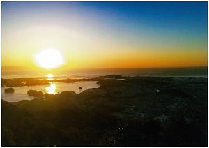 浦戸湾の朝焼け